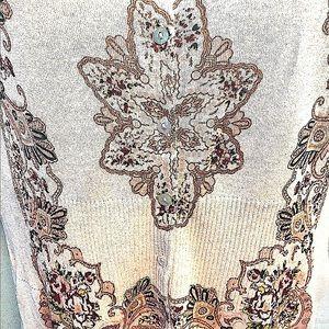 Charlotte Tarantola Fine Gauge Beaded Knit Sweater